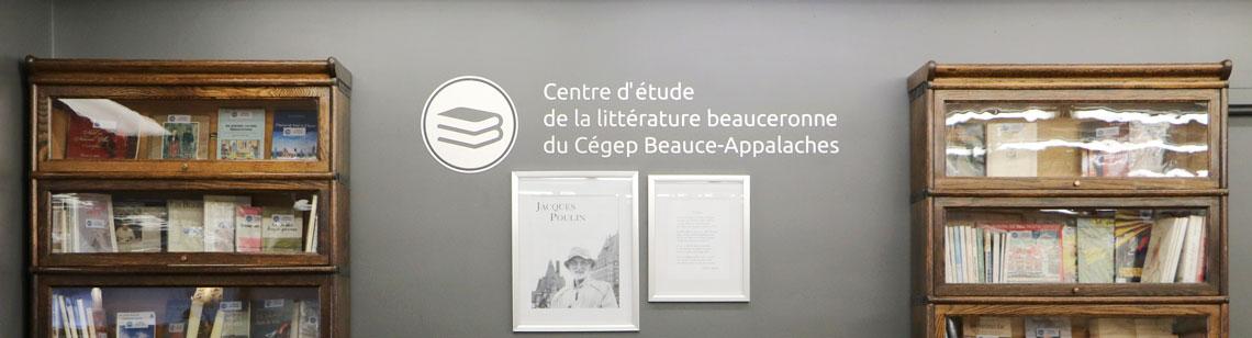 Photo centre d'étude de la littérature beauceronne