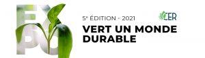 Bannière visuelle Expo vert un monde durable 2021