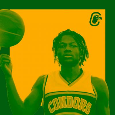 Joueur de basketball faisant tourner un ballon en équilibre sur son doigt
