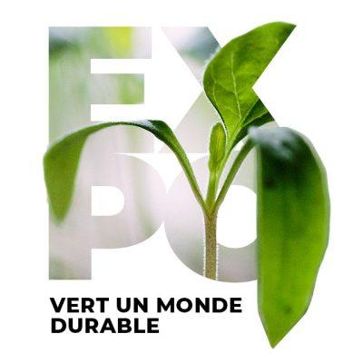 Affiche expo vert un monde durable