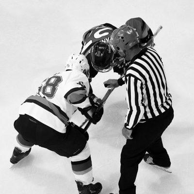Mise au jeu au hockey