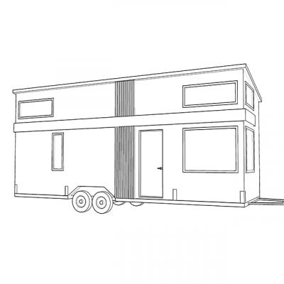 Plan extérieur mini maison sur roues