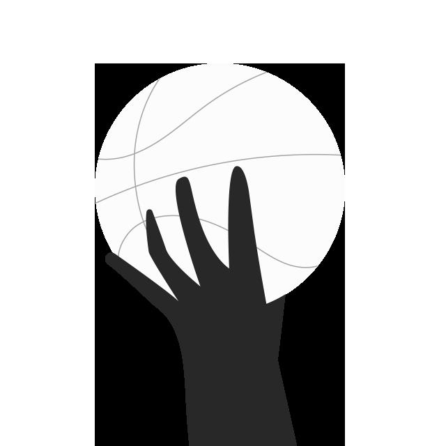 Icône main tenant un ballon de basketball