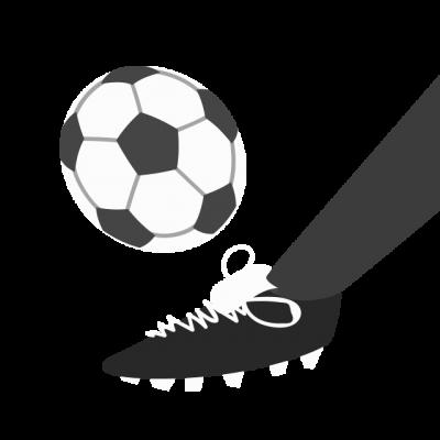 Icône pied bottant un ballon de soccer