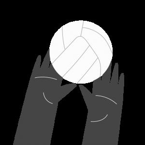 Icône d'une touche au volleyball