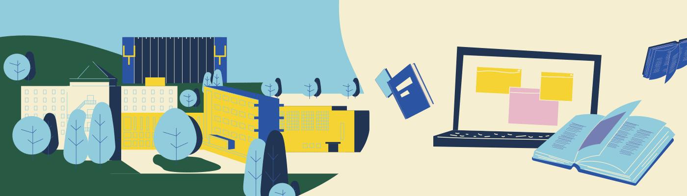 Illustration combinée Cégep et en ligne
