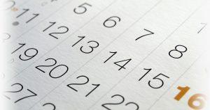 Des chiffres sur un calendrier
