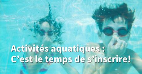Bannière activités aquatiques