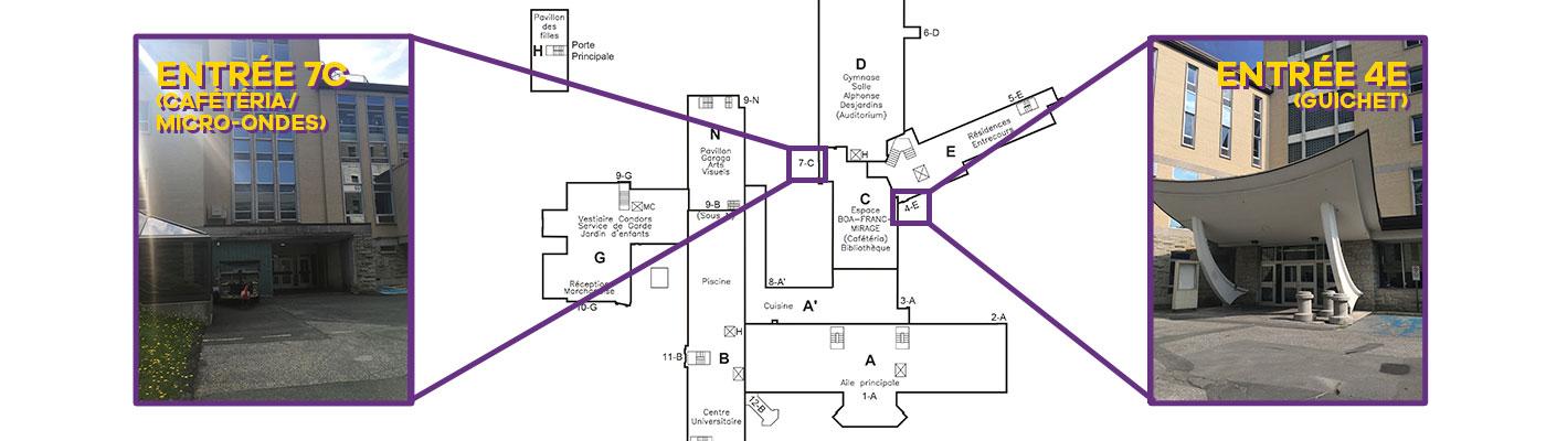 Plan du Cégep pour les portes d'entrée pour la rentrée 2020